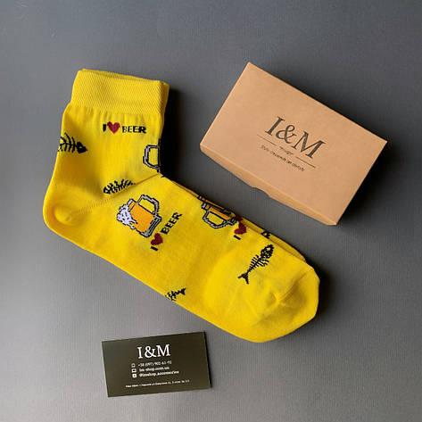 Носки I&M Craft Elegant's желтые с пивом (070375), фото 2