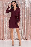 Платье ассиметричное бордо
