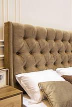 Кровать двуспальная Пудра (Embawoo) 160х200, 1 Виларт-Р Артекс, велюр El Dorado - Nut, фото 3