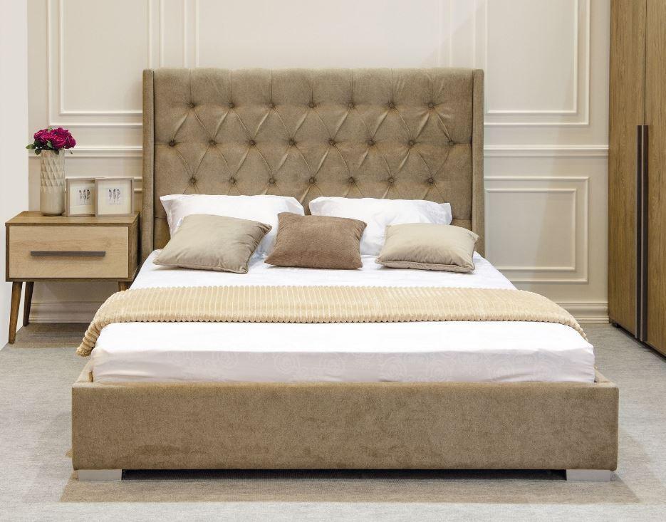 Кровать двуспальная Пудра (Embawoo) 160х200, 1 Виларт-Р Артекс, велюр El Dorado - Nut