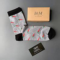 Носки I&M Craft Elegant's серые в перчики (070379)