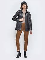 Весенняя куртка черная с эко кожи 42-44 44-46 48-50 52-54 56-58