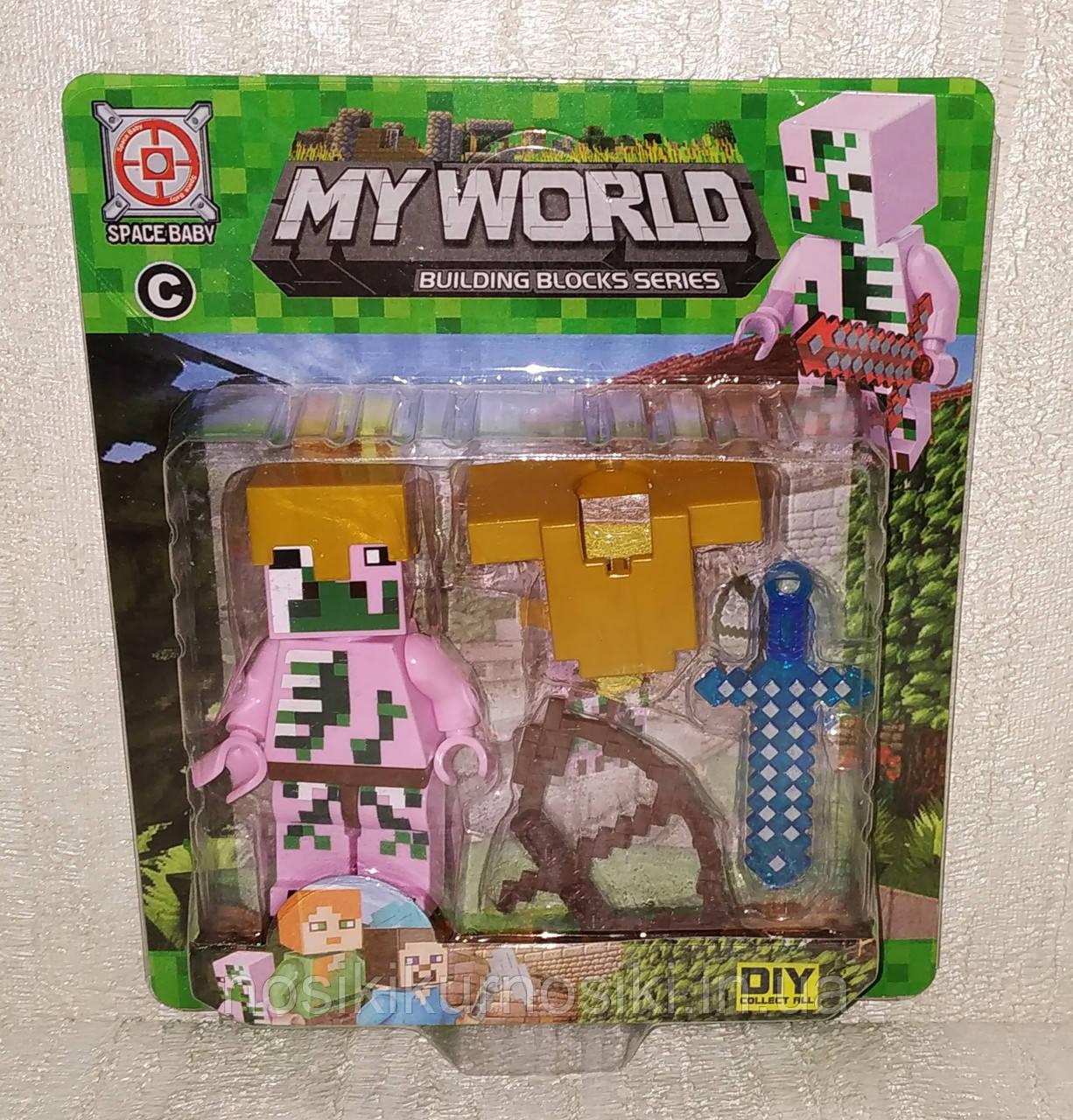 Фигурки Minecraft Герои Майнкрафт — 1 фигурка, аксессуары, SM-2575.5
