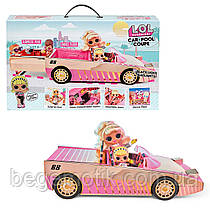 Игровой набор с куклой ЛОЛ Автомобиль кабриолет  L.O.L. Surprise! Car-Pool Coupe with Exclusive Doll