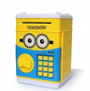 Копилка сейф  UKC, детский банкомат с кодовым замком MINION