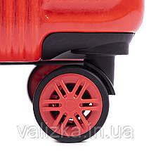 Чемодан из поликарбоната премиум серии среднего размера W-565 на 4х двойных колесах с ТСА замком шампань, фото 2