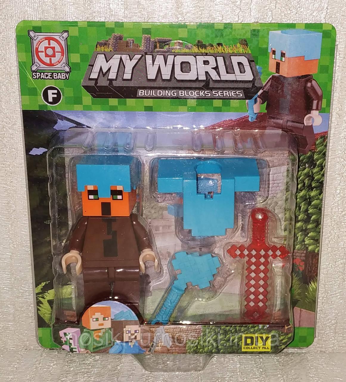 Фигурки Minecraft Герои Майнкрафт — 1 фигурка, аксессуары, SM-2575.6