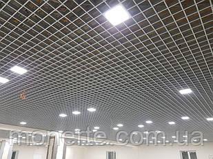 Стеля Грильято 100*100*40 стальна білий/чорний/металік