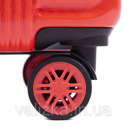 Комплект чемоданов из поликарбоната премиум серии W-563 штуки малый для ручной клади, средний и большой черный, фото 2