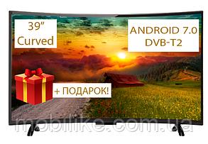 "Изогнутый телевизор Comer 39"" SmartTV FullHD DVB-T2 (E39DU1100) CurvedTV"