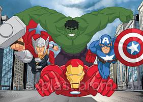 """Килимв дитячу кімнату """"Avengers City"""" - (Польща) TM """"Krystynka"""""""