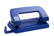 Дырокол металлический, до 10 л., 124х63х35 мм, синий
