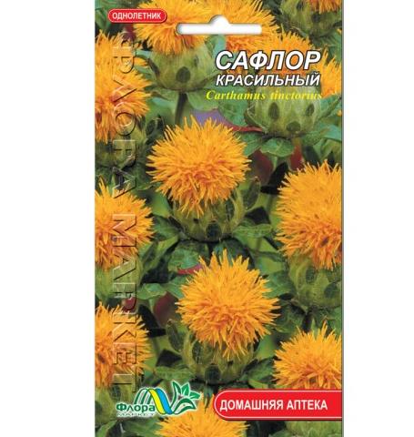 Сафлор красильный цветы однолетние, семена 0.5 г
