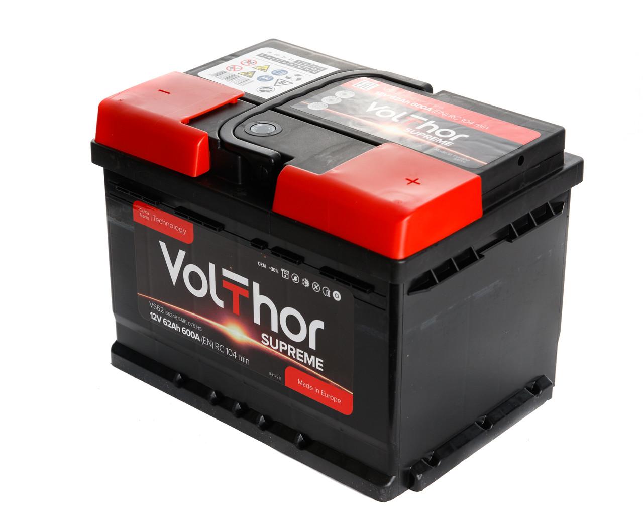 Аккумулятор Volthor Supreme 6СТ-62-АЗ (0)