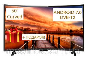 """Изогнутый телевизор Comer 50"""" SmartTV FullHD DVB-T2 (E50DU1100w) CurvedTV"""