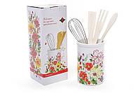 🔥 Распродажа! Подставка для кухонных принадлежностей керамическая (аксессуары в комплекте) Summer