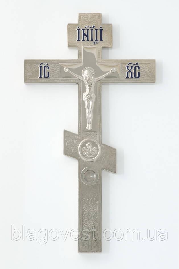 Крест напрестольный 2-5 никель с мощевиком