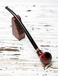 Трубка из бриара с длинным мундштуком Churchwarden ручной работы прямоток, фото 2