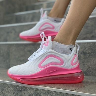 Женские кроссовки в стиле Nike Air Max 720 White/Pink