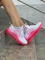 Женские кроссовки в стиле Nike Air Max 720 White/Pink, фото 2