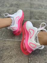 Женские кроссовки в стиле Nike Air Max 720 White/Pink, фото 3