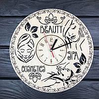 Стильные настенные часы из дерева в салон красоты, фото 1