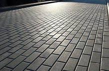 """Тротуарная плитка """"Кирпич"""" 200х100 высота 40мм серая, фото 2"""