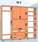 Шкаф купе ТВ 1/2 2100х600х2400 Алекса мебель, фото 8