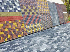 """Тротуарная плитка """"Кирпич"""" 200х100 высота 40мм серая, фото 3"""