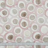 Шторы в Детскую комнату MacroHorizon Кружочки Розовые (MG-DET-155986). 270*145 см, фото 3