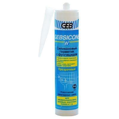 Силиконовый герметик GEBSICONE W 310 мл (Белый)