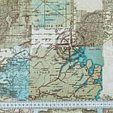 Комплект Декоративных Штор в детскую комнату Испания Карта Голубой, арт. MG-148864, 275*145 см, фото 2
