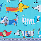 Комплект Декоративних Штор в дитячу Бавовна Іспанія ТАКСИ БІРЮЗА, арт. MG-96833, 275*170см, фото 2