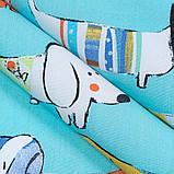 Комплект Декоративных Штор в детскую Хлопок Испания ТАКСЫ БИРЮЗА, арт. MG-96833, 275*170см, фото 3
