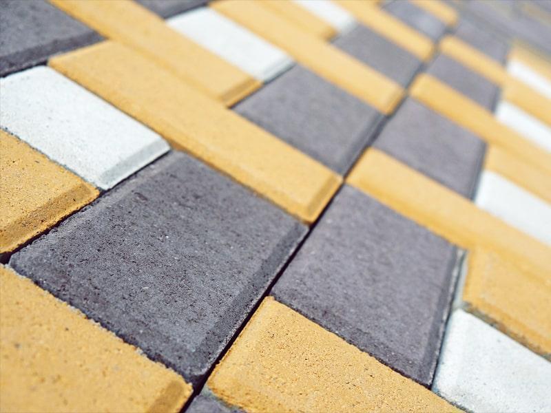 """Тротуарная плитка """"Кирпич"""" 200х100 высота 80 мм цветная"""