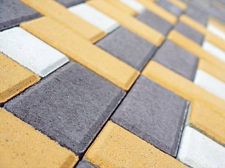 """Тротуарная плитка """"Кирпич"""" 200х100 высота 80 мм цветная, фото 2"""