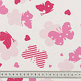 Штори в Дитячу кімнату MacroHorizon Рожеві Метелики (MG-DET-160968), 270*135 см, фото 3