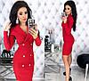 Женское облегающее платье-пиджак с красивым декольте  С-М, Л-ХЛ, фото 2