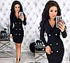 Женское облегающее платье-пиджак с красивым декольте  С-М, Л-ХЛ, фото 4