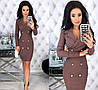Женское облегающее платье-пиджак с красивым декольте  С-М, Л-ХЛ, фото 5