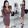 Женское облегающее платье-пиджак с красивым декольте  С-М, Л-ХЛ, фото 6