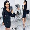 Женское облегающее платье-пиджак с красивым декольте  С-М, Л-ХЛ, фото 3