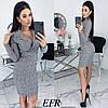 Женское облегающее платье-пиджак с красивым декольте  С-М, Л-ХЛ, фото 10