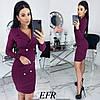 Женское облегающее платье-пиджак с красивым декольте  С-М, Л-ХЛ, фото 8