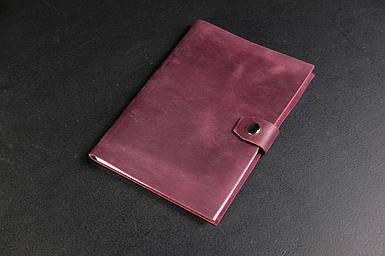 Блокнот в шкіряній обкладинці формату А5 Вінтажна шкіра колір Бордо
