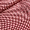 Ткань декоративная с тефлоновой пропиткой в мелкую красную клетку 5 мм, ширина 180 см
