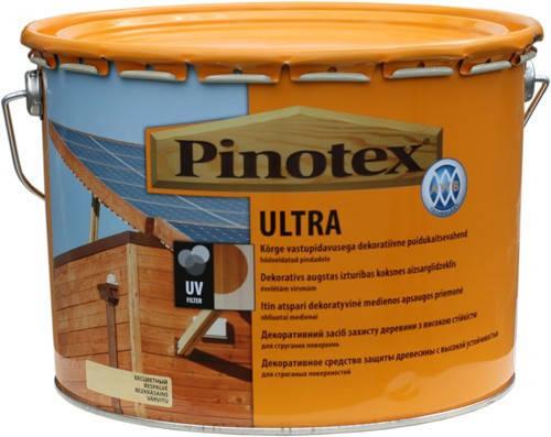 Pinotex Ultra 10л краска-лак Пинотекс Ультра «калужница», фото 2
