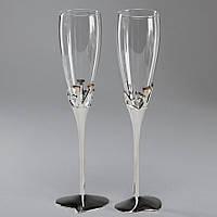 Свадебные бокалы Veronese 2 шт 563/105 пара парные бокалы на свадьбу на торжество для шампанского