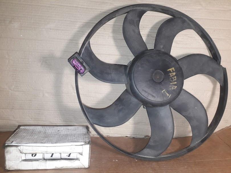 №14 Б/у Вентилятор охлаждения 6Q0959455AD 1,2-1,4 для Polo,Fabia II 1999-2010