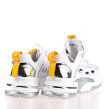 Жіночі яскраві кросівки Allshoes 102-65070 WHITE/YELLOW KOGA ВЕСНА 2020, фото 2